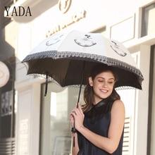 YADA Design Dance Girl Pattern Fold Rainy Umbrella For Women Girl Anti-UV Rainproof Sun Protection Parasol Lace Umbrella YD027