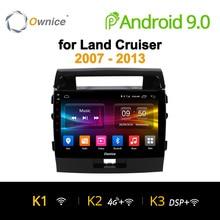 Ownice K1 K2 K3 10,1 «Android 8,1 автомобиль DVD навигатор gps плеер для Toyota land Cruiser 200 2007 2008 2009 2010 2011 2012 2013 2G + 32G