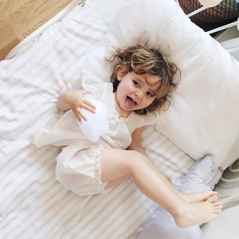 Kids Baby Girl Clothing Costume Short Sleeve Children Lace Sleepwear Pajamas Sets Summer Princess Children Pajamas Set
