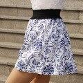 2016 primavera y el verano women'svintage estilo popular de la alta cintura busto corto faldas cortas