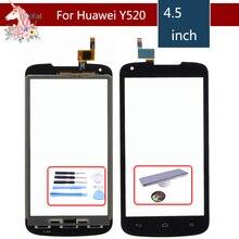 4.5 For Huawei Ascend Y520 LCD Touch Screen Digitizer Sensor Outer Glass Lens Panel Replacement mooncase простой стиль кожаный бумажник флип карты отойти чехол для huawei ascend y520 белый