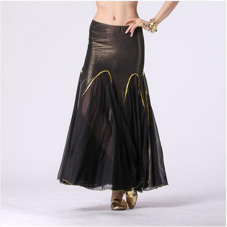 HOT SALE! New Ice Silk And Chiffon Cotton Belly Dance Skirt Women Belly Dance Fishtail Skirts  Belly Dance Clothes