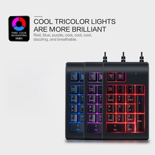 3 Color Backlight Ergonomics Digital Keyboard for Bank Cash Register Financial Numeric Keypad Waterproof Mini Keyboard
