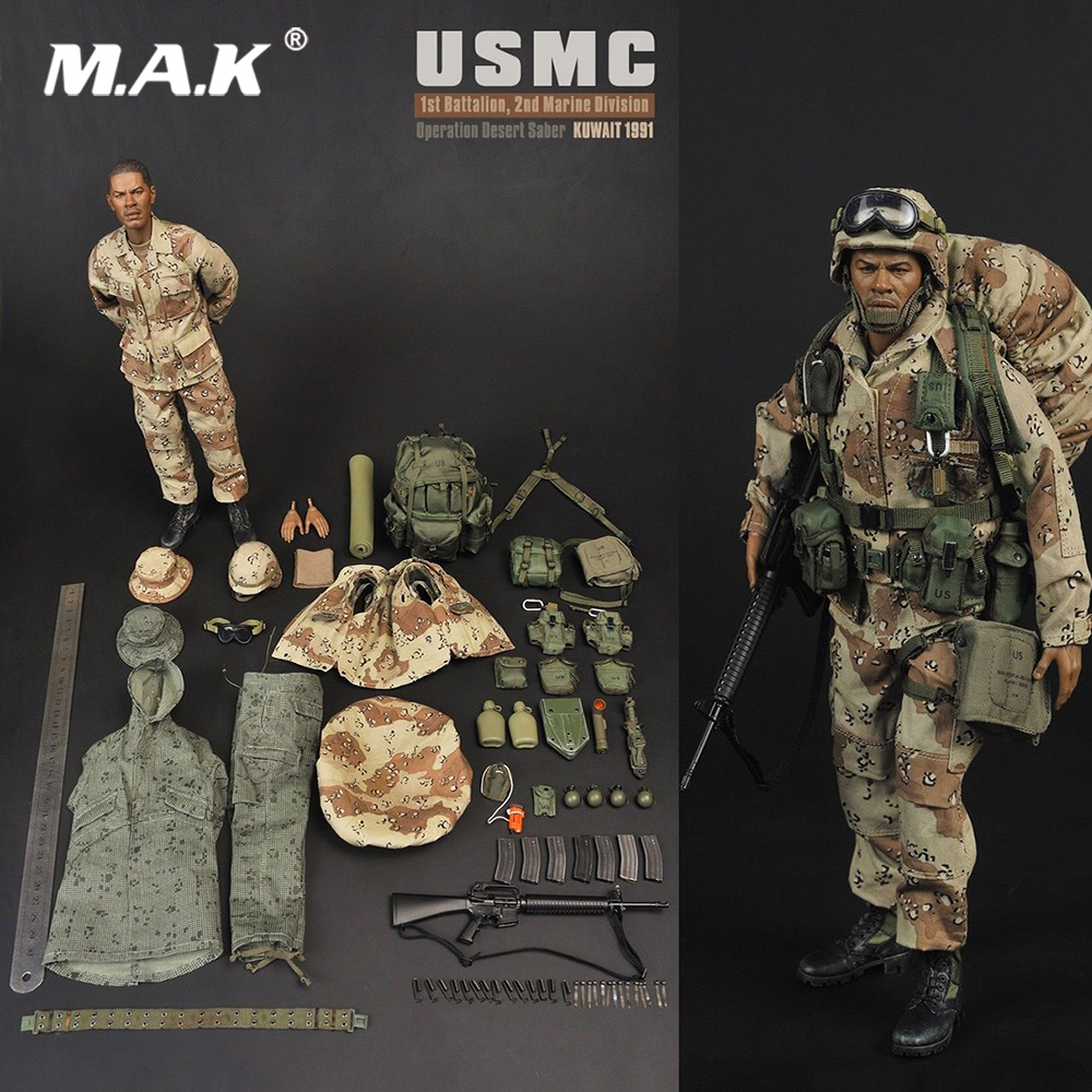For Collection Full Set Solider Figure 1:6 SS071 USMC Desert Saber Operation Soldier Male Action Figure for Gift full set 1 6 german wwii solider armored division uniform panzer division rainer action figure wounded wersion for collection