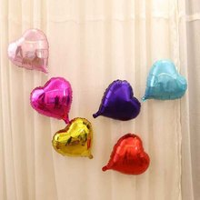 10 inch Helium Balloon heart Wedding Large aluminum Foil Balloons Inflatable gift Birthday baloon Party Decoration Ball