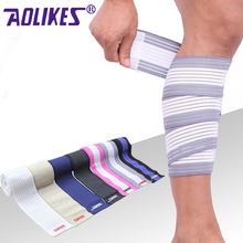 AOLIKES 1 Pcs Weight Lifting Elastic Knee Bandages Leg Compression Calf Support Wraps Sports Squats Training