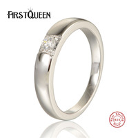 FirstQueen 925 Sterling Silver Droplets Stackable Finger Classic Ring for Men Wedding Original Fine Jewelry