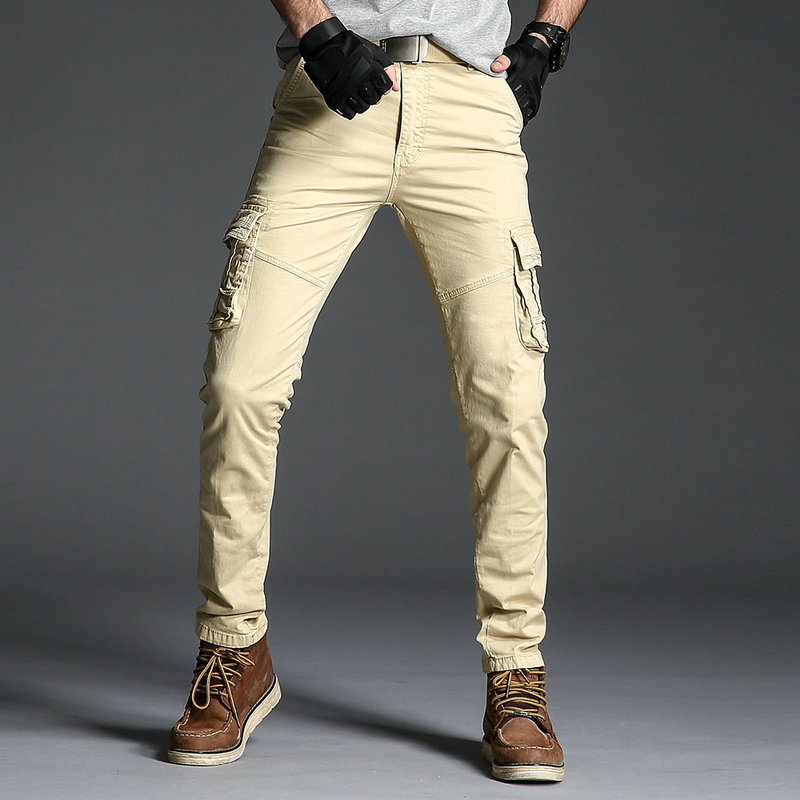 2020 Men Cargo Pant Casual Men Multi-Pocket Overall Male Solid Fashion Cotton Military Trousers Army Casual Joggers Pants