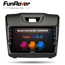 Funrover ips Android8.0 2 din dvd-радио мультимедийный плеер для Chevrolet Trailblazer Колорадо S10 Isuzu D-max MU-X стерео gps