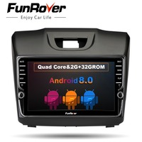 Funrover IPS Android8.0 2 din Car DVD Radio multimedia Player for Chevrolet Trailblazer Colorado S10 Isuzu D max MU X stereo GPS