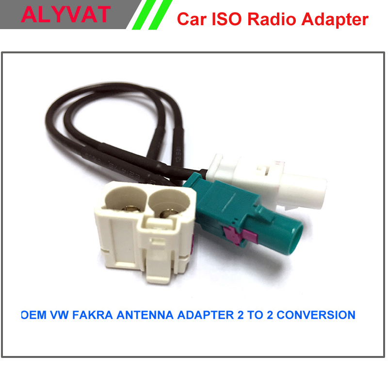 oem vw rns510 mfd3 rcd510 310 radio fakra antenna adapter. Black Bedroom Furniture Sets. Home Design Ideas