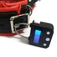New Time Lock Fetish Handcuffs Mouth Gag Electronic Timer Bondage Restraints Chastity Couples Toys Adult Game Bondage Lock