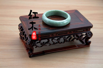 Special offer rosewood base / hollow carved mahogany antique jade vase teapot / rectangular wooden crafts