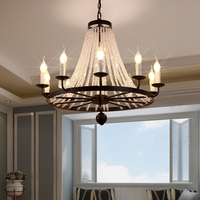 Crystal Chandelier LED Lights Fixtures Lighting For Dining Room Bathroom Bedroom Living With E12 E14 Base