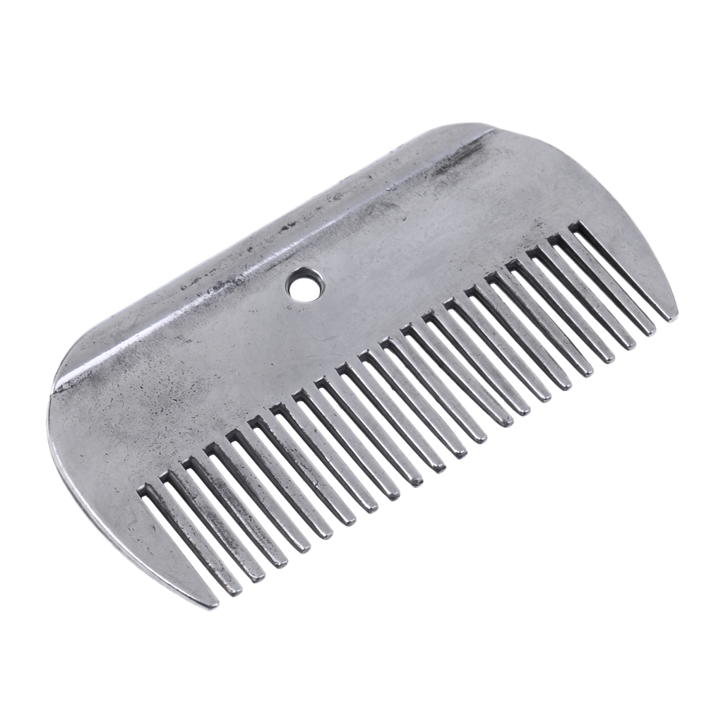 Sturdy Stainless Steel Horse Pony Grooming Supplies Tools Comb Currycomb Equipment