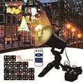 DACHAN 16 узоров IP65 светодиодный Рождественский лазерный прожектор в виде снежинки, светильник для внутреннего и наружного освещения, Рождеств...