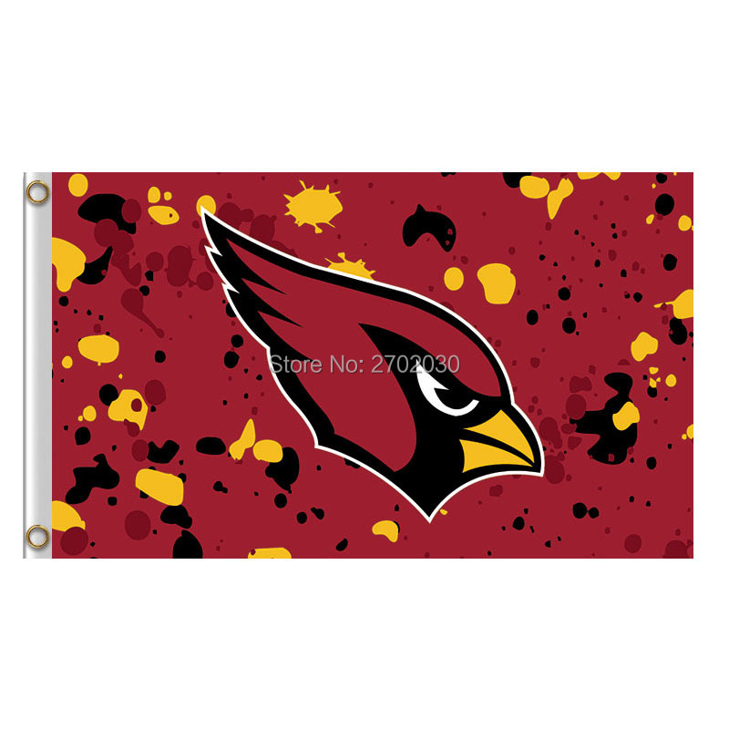Arizona Cardinals Red Camouflage Flag World Series Football Team 3ft X 5ft Super Champions Banner Arizona Cardinals Flag
