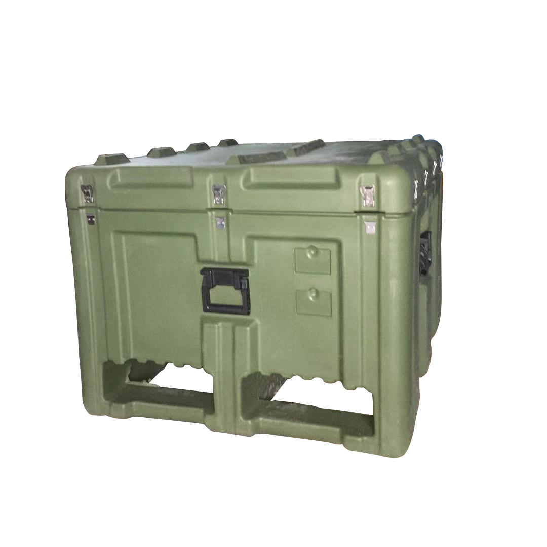 Tricases Factory New Arrive IP65 Waterproof Shockproof Rotational Mould Hard Plastic Equipment Case With Forklift Slot RS888
