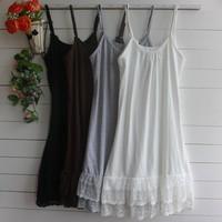 Lolita Vintage Lace Dress Cute Basic Spaghetti Strap Women Short Dress Casual Summer Dresses Vestidos 3XL