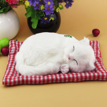 Simulation white cat  polyethylene&furs cat model funny gift about 25cmx20cmx7.5cm