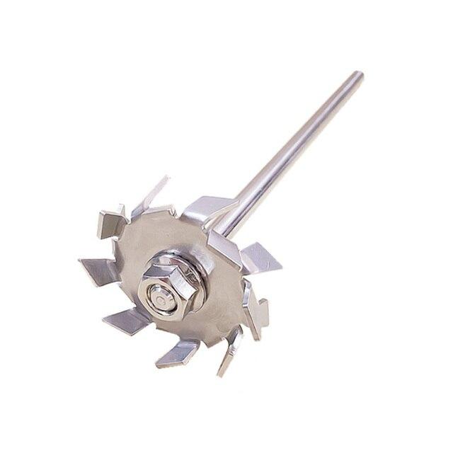 1 個ラボステンレス鋼分散プレートパドル、分散ディスク分散機の刃で攪拌攪拌ロッド