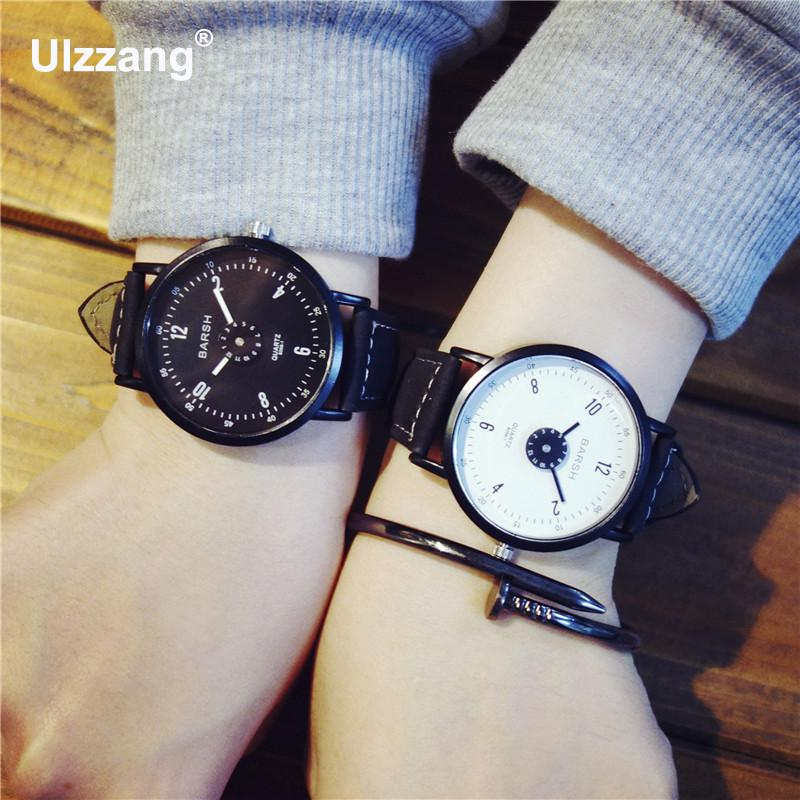 New Brand Unique Quartz Watch Lover's Watches Women Men Cool Watches Leather Sports Wristwatches Ladies Male Casual Watches