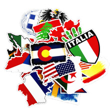 Pvc Stickers National Flags Waterproof