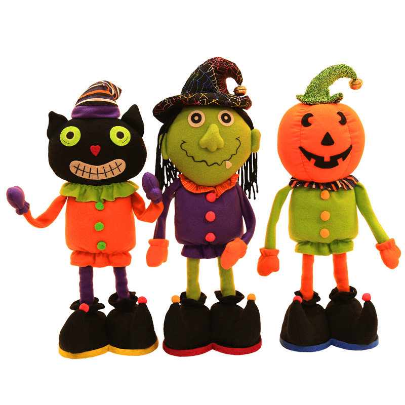 halloween decoration dolls halloween toys shopping mall window decoration scalable dolls three styles black cat witch