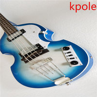 Top Quality Custom Kpole Hfner Violin 4 Strings Bass Contemporary Electric Bass Guitars Musical Instruments Shop