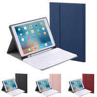 Ultra Slim Smart Cover Protective bluetooth keyboard Case With Pencil Holder For New iPad 9.7 inch 2018 2017 Air 12 Pro 9.7 10.5