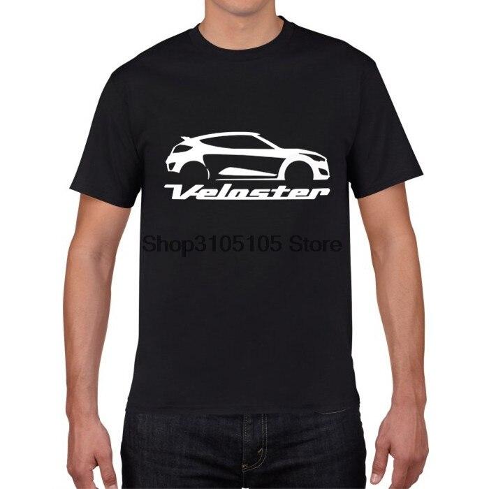 GILDAN Designer T Shirt Movie T Shirts Veloster Car Logo Men 100 Cotton Short Sleeve Shirts