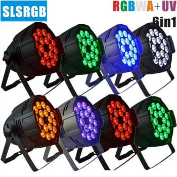 8 teile/los LED Par 64 18x18watt LED Licht RGBWA + UV 6 Farbe RGBWPY 6in1 High Power Qualität Lot Par64 18x18 w LED Licht 6in1 DMX512