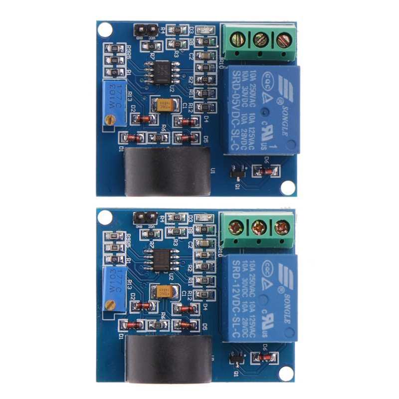 5A moduł przekaźnika zabezpieczenia nadprądowego płytka wykrywania prądu AC przekaźnik 12 V/5 V