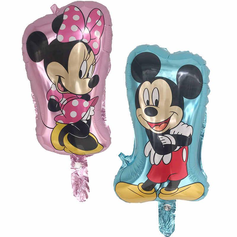 1 ชิ้น 50X26 เซนติเมตร Mini Minnie Mickey Mouse บอลลูน globos เด็กวันเกิดงานแต่งงานอุปกรณ์ตกแต่งบอลลูน