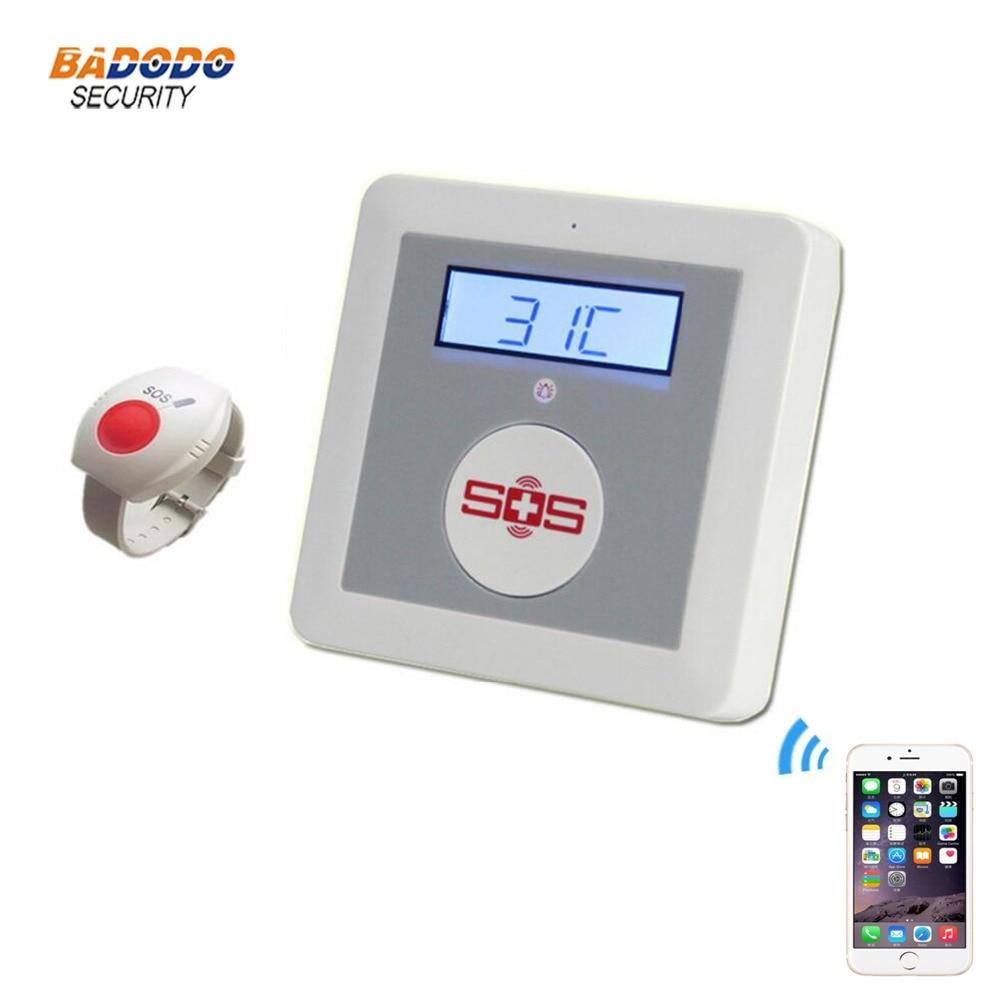 Bezprzewodowy aplikacja na Android i iOS zdalnego sterowania GSM starszych osób System alarmowy SOS paniki przycisk Alarm SMS opieki dla osób starszych, panel K4 w Przyciski alarmu awaryjnego od Bezpieczeństwo i ochrona na AliExpress - 11.11_Double 11Singles' Day 1