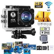 4K 30fps 16MP WiFi Action Sports Camera 1080P 60fps Full HD 4X Digital Zoom Diving 40m 170 Wide Angle Lens Sports Action Camera(China)