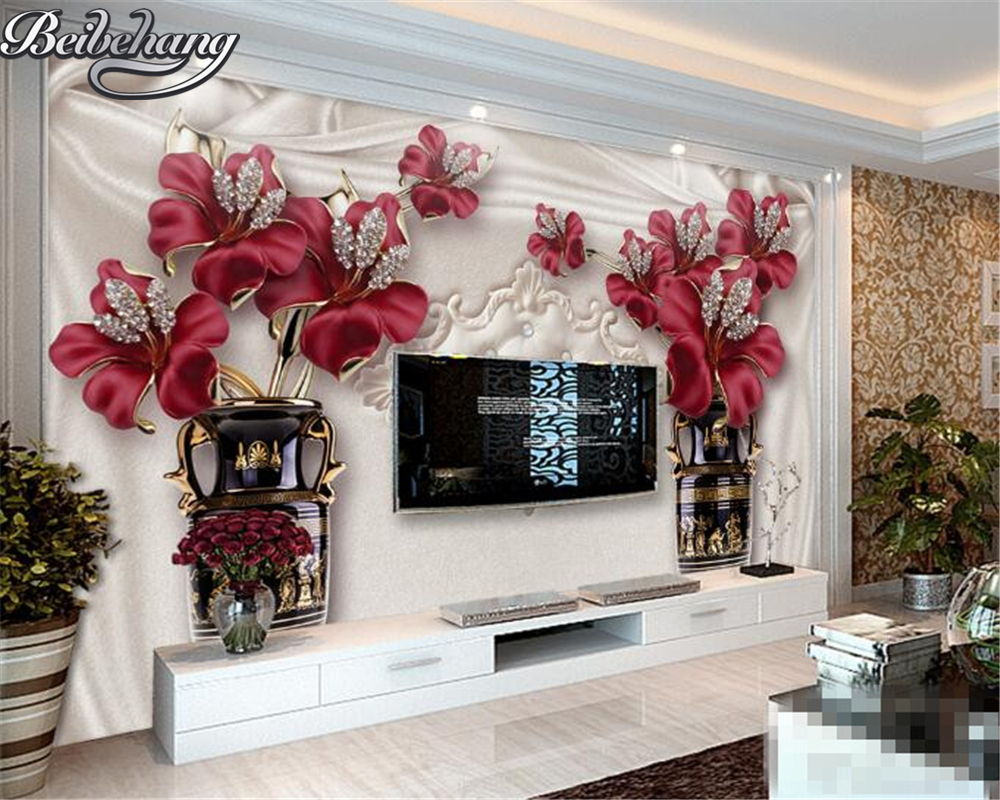 Wall Mural For Living Room Compare Prices On Flower Wall Murals Online Shopping Buy Low