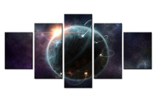 Forbeauty 5 Piece Canvas Painting Saturn Venus science and geographical space posters Wall Pictures for Livingroom