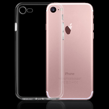 Фотография Soft TPU Clear Transparent Phone Skin Shield Case Protection Shell Holder Cover with Dust Plug for Apple IPhone 6 S 6S 7 Plus