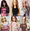Frete grátis, Melhor presente ( boneca + vestido + roupas + + boneca de ) boneca acessórios para boneca Barbie