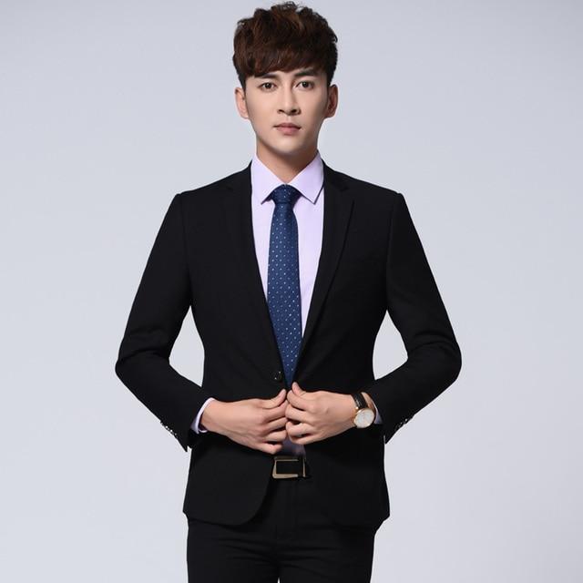 2018 New Arrivals High Quality Korean Men Suit Jackets Formal Wear