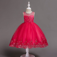 Children's Dress Tutu Flower Girl Wedding Princess Dress Performance Costume 1 13 Years