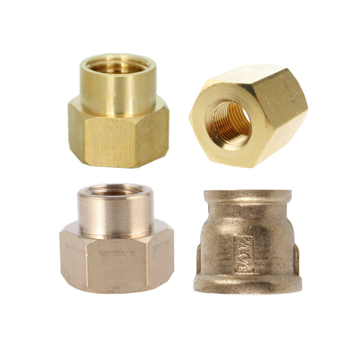 """1//8/"""" 1//4/"""" 3//8/"""" 1//2/"""" 3//4/"""" 1/""""Female x Male Thread Connector Joiner Fitting Adapter"""