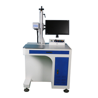 Raycus 50w Fiber laser marking machine for metal marking ring name tag aluminum copper silver gold