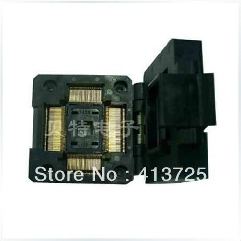 Imports of IC IC51-1284-1433-10 seat TQFP128 seat adapter burn imports of ic test seat otq 100 0 65 03 burning qfp100 adapter conversion