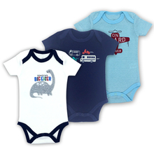 3-Pack Summer Short Sleeve Baby Bodysuits 100% Cotton Fashion print girl Clothing Jumpsuit newborn baby Underwear Clothes