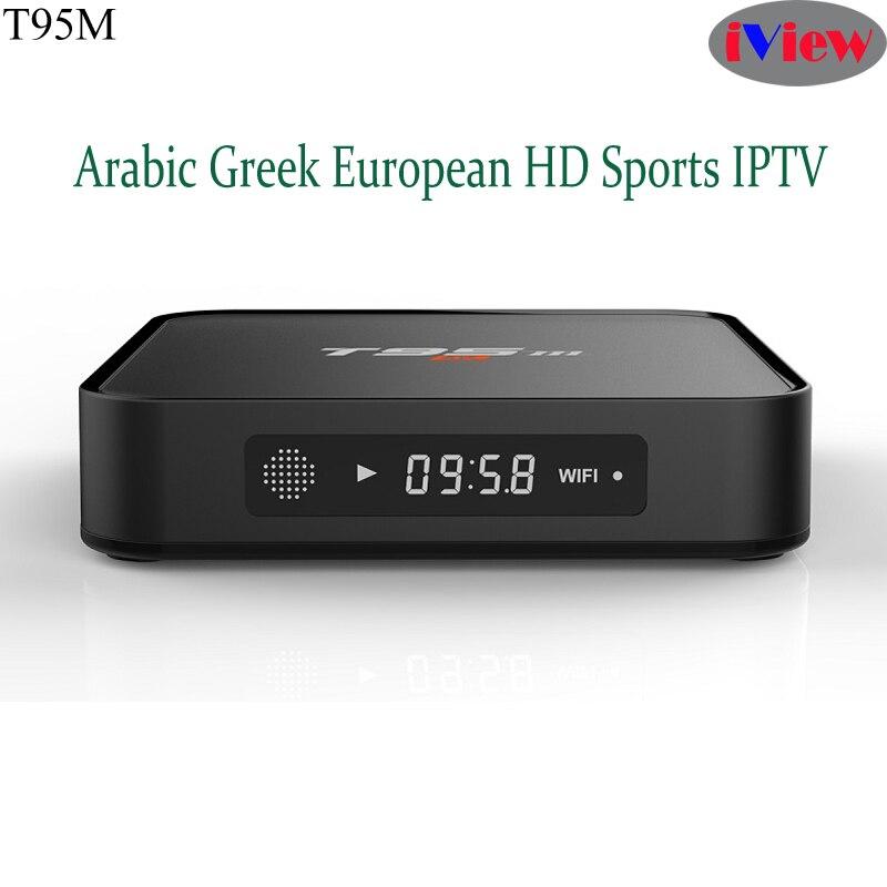 T95M 4K HD TV Box S905X With Iview HD UK Channels Greek