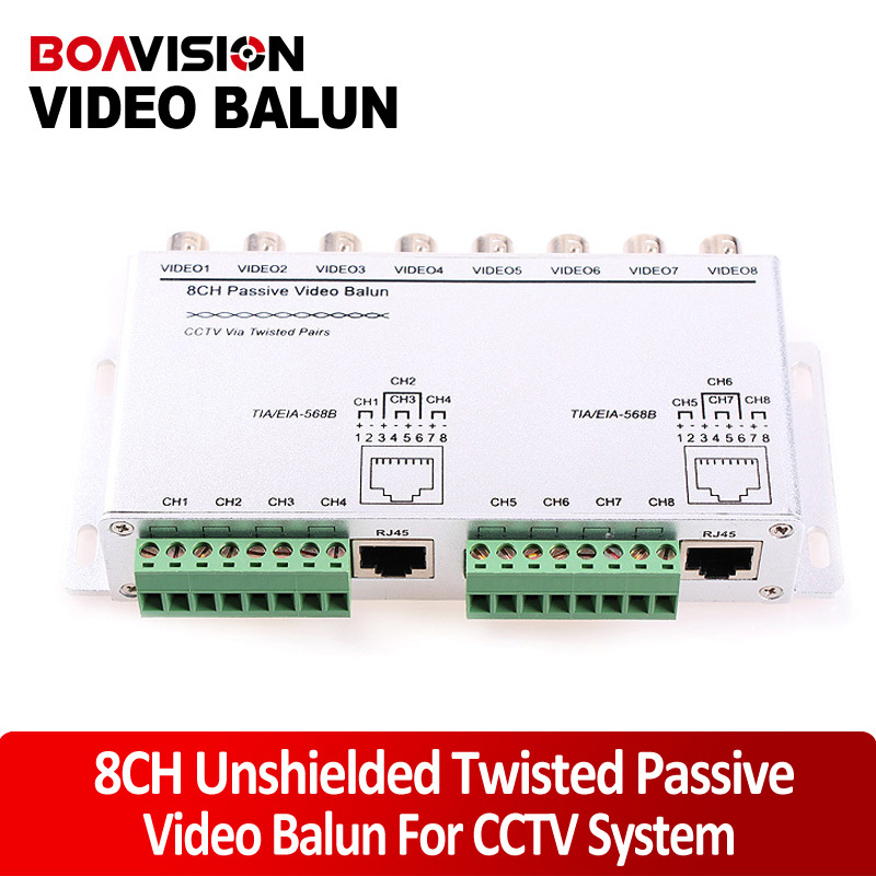 8CH Passive Video Balun Twisted UTP Video Balun  video Transceiver