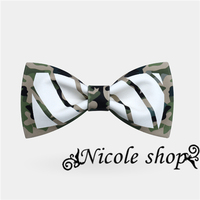 Package Youmiao Hair Camouflage Bow Tie Dress Tide Card Printing British Men And Women Casual Marriage