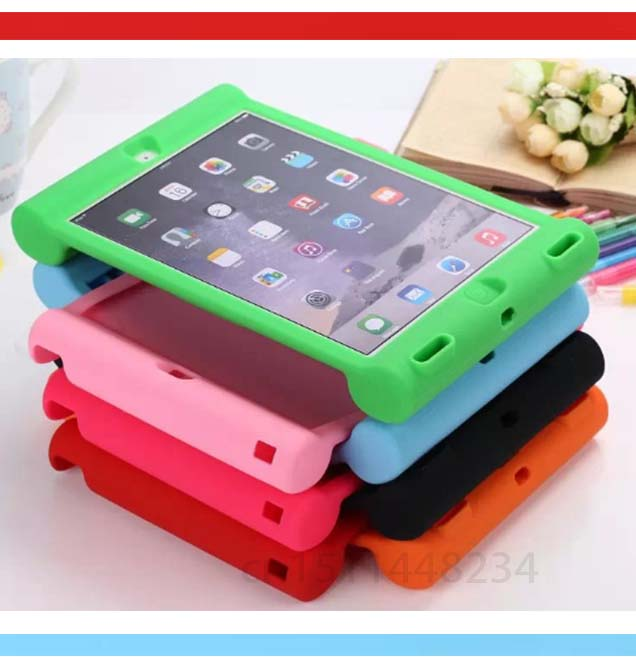 For iPad Air 2 tablet Kids Stand Cover Safe Shockproof Rubber Silicone Case for Apple ipad 6 air2 With capa fundas + Stylus Pen